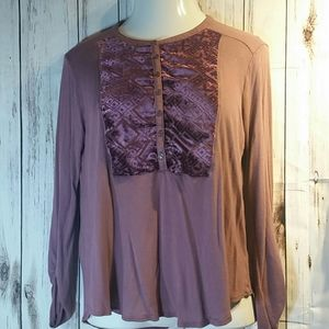 Woman's Lucky Brand plum top size L